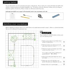 Measuring For Granite Kitchen Countertop Petoskey Granite And Quartz Countertops