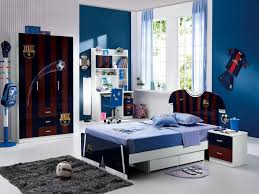 Kids Bedroom:Fantastic Boys Bedroom Interior Design With Blue Wall And  Cream Green Wooden Bed