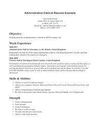 resume objective clerical clerical resume objective data entry clerk resume sample