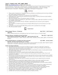 Ms Project Scheduler Sample Resume Resume Senior Projects Planner