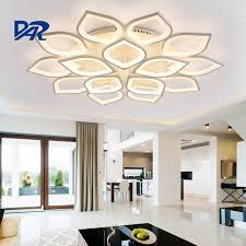 lighting for living rooms. Creative Petal Modeling Acrylic Ceiling Lights For Living Room Bedroom Lamparas De Techo DIY Led Lighting Rooms
