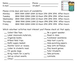 Parent Sign Up Sheet Free Back To School Printables And 20 Ways Parents Can Volunteer At