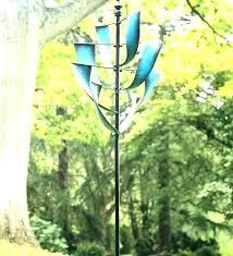 garden wind spinners metal yard spinner sapphire
