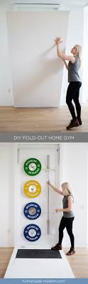 this fold out gym is perfect for crossfit style exercise routines at home and is