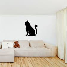 simple cat wall sticker animals pets wall decal kitchen kids home decor