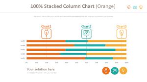 100 Column Chart 100 Stacked Column Chart Orange