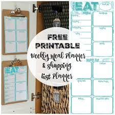 Pantry Makeover: Free Printable Weekly Meal Planner And Shopping ...