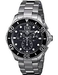 amazon co uk tag heuer watches tag heuer men stopwatch watch black dial analog