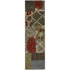 emporia patchwork saddle 2 ft x 8 ft runner rug