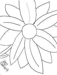 Free Printable Coloring Page Giant Flower
