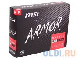 <b>Видеокарта MSI Radeon RX</b> 580 ARMOR 8G OC 8Gb 1366 MHz ...