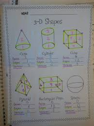 Teaching With Class Formerly Missthirdgrade Com 3d Shapes