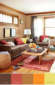 fresh rugs for brown couches or brown and warm red orange and yellow color combo with