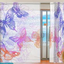 Purple Living Room Curtains Online Get Cheap Window Curtain With Purple Butterfly Aliexpress