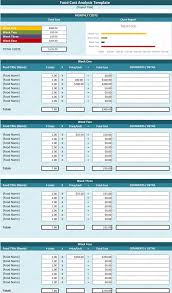 cost analysis template cost analysis tool spreadsheet food cost analysis template