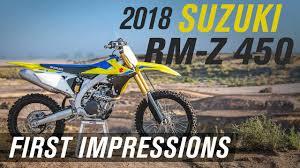 2018 suzuki rmz 450 shock. wonderful 2018 2018 suzuki rmz 450 first impressions in suzuki rmz shock