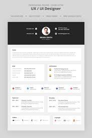 Ux Designer Resume Template Brian Smith Ux Ui Designer Resume Template Resume Ux