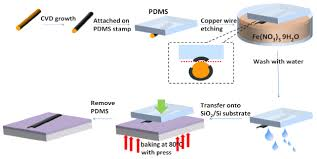 transfer printing of graphene strip from the graphene grown on zoom in