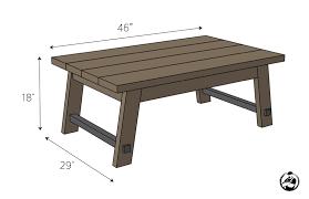 angled leg coffee table free diy