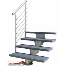 Die länge einer treppe ergibt sich aus der summe der auftritte, wobei mit auftritt die tiefe einer treppenstufe bezeichnet wird. Aussentreppe Okostep 160 Breite 60 Cm Treppenshop24