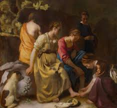 diana and her companions by johannes vermeer