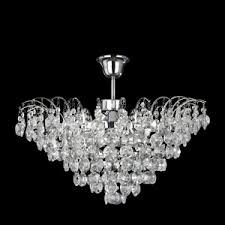 limoges chrome semi flush chandelier