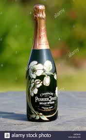 Hand Decorated Champagne Bottles Hand painted decorated bottle of Perrier Jouet Belle Epoque 2