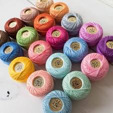 Finca Perle Cotton Color Chart Rainbow Pearl Cotton Thread Set Size 8 Embroidery