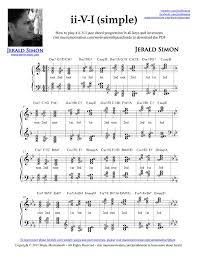 Piano Chords Chart Pdf Download Free Free Pdf Download Of How To Play The Ii V I Jazz Chord