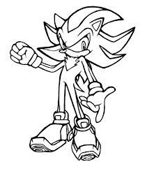 Sonic Shadow Coloring Pages Free Sonic Coloring Page Trend Sonic