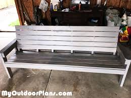 diy large outdoor bench with backrest