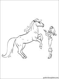Kleurplaat Van Een Barbie Pop Met Een Paard Gratis Kleurplaten