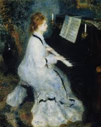 young woman at the piano 1876 pierre auguste renoir