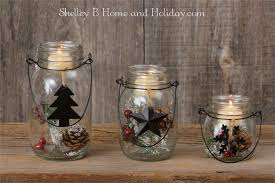 Decorate Jar Candles Mason Jar Glass Candle holders Christmas ornaments 87