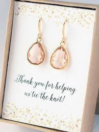 bridal gift earrings