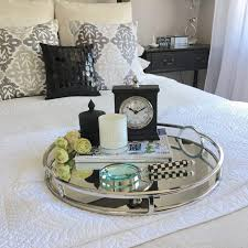 Decorating An Ottoman With Tray Furniture Large Round Ottoman Tray Coffee Table Target Serving 10