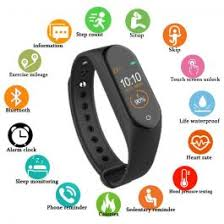 <b>M4 Smart band Fitness</b> Tracker Watch Heart Rate Blood Pressure ...