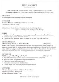 Resume Examples: Example Internship Resume Template Sample Writing A ...