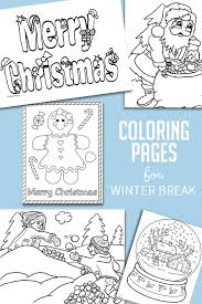 Christmas coloring pages for kids & adults to color in and celebrate all things christmas, from santa to snowmen to festive holiday scenes! Christmas Winter Coloring Pages For Kids To Color