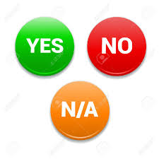 Yes, No, NA Round Icons Royalty Free Cliparts, Vectors, And Stock ...
