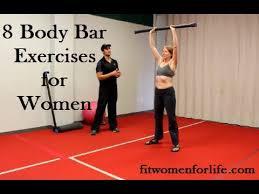 8 Body Bar Exercises For Women Youtube