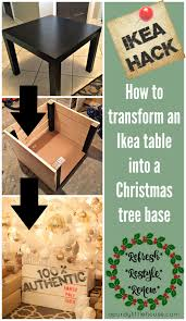 Handmade woven rattan round coffee side table 63cm for outdoor or indoor living room | includes protective glass top bambeescollection 5 out of 5 stars (54) $ 176.95. Ikea Hack How I Turned An Ikea Side Table Into A Christmas Tree Base A Purdy Little House
