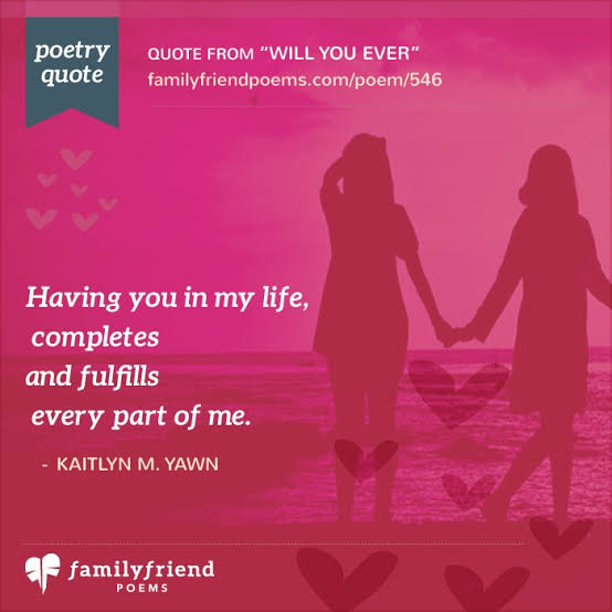 poems about life and love and friendship