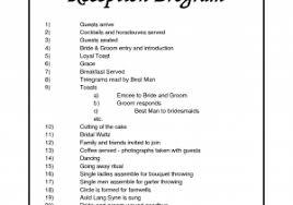 wedding reception agenda template wedding reception agenda template beautiful wedding agenda 9