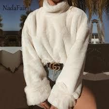 Nadafair Neon <b>Autumn Winter</b> Long Sleeve T Shirt Women ...