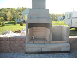 image of cinder block fireplace outdoor plans