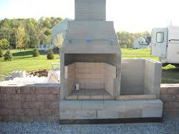 cinder block fireplace outdoor plans