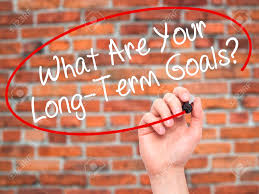 man hand writing what are your long term goals black marker man hand writing what are your long term goals black marker on visual