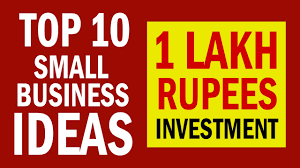10 Small Business Ideas In India With 1 Lakh Rupees Investment