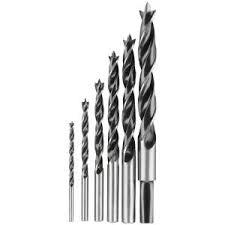 drill bits for steel. dewalt high speed steel brad-point drill bit set (6-piece)-dw1720 - the home depot bits for